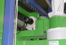 Ventilador de inflado de big-bag para estación de llenado.