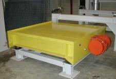 Safata vibrant de compactació per a instal·lar a la base d'un ompliment de big-bag